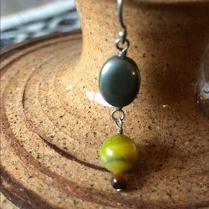Silpada pyrite/green mop/tigers eye (one) earring
